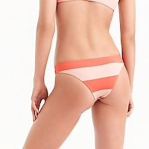 J.Crew Playa Nantucket cheeky bikini bottom peach
